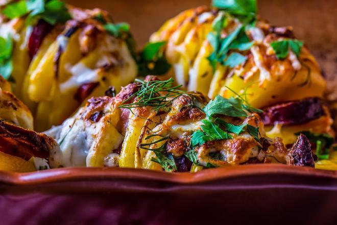 Ziemniaki pieczone z pestkami  - sprawdzony przepis