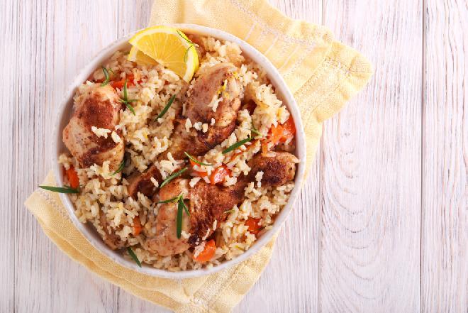 Cytrynowy kurczak z ryżem