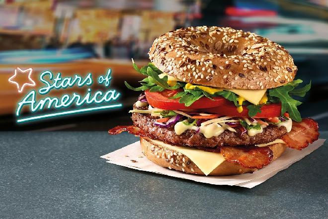 Wieloziarnisty Beef Bajgiel - nowa gwiazda wśród Stars of America w McDonald's
