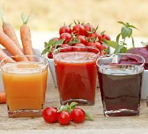 Koktajl warzywny z marchewki, buraków i szpinaku