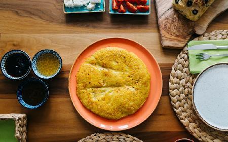 Słonecznikowy omlet po amerykańsku - pyszny omlet z ziarnami słonecznika